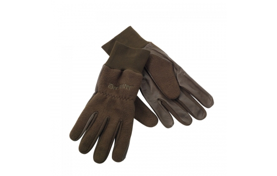 Fleece Gloves with Leather 8761